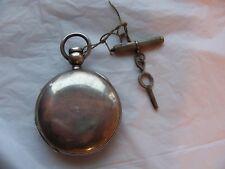Antique Men's Pocket Watch Solid Silver Case Key Wind American Watch Co. Waltham