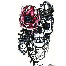 Temporäres Tattoo Totenkopf Rosen Design Temporary Klebetattoo Körperkunst