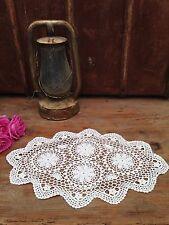 VINTAGE WHITE CROCHET DOILY. MORE AVAIL CHECK OUT OUR OTHER LISTINGS!