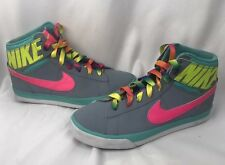 Nike Match Supreme HI Girls Size 6.5Y School Shoes Gray Volt Pink 654239 002