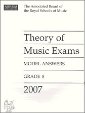 ABRSM Past Theory Of Music Exam Paper 2007 Grade 8 Model Answers Sheet Music