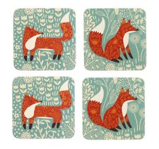 Foraging Fox Set of 4 Coasters by Ulster Weavers