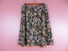 SK10254- TALBOTS Woman 98% Cotton A-Line Skirt Lightly Sequined Multi-Color 12