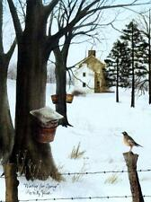 Billy Jacobs Waiting for Spring Robin Maple syrup Print  12 x 16