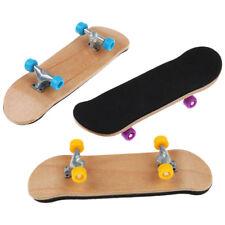 Complete Wooden Fingerboard Finger Skate Board Grit Box Foam Tape Maple Wood
