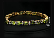 Exquisite Green CZ And 18k Yellow Gold Plated Bracelet