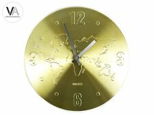 Segnale Wanduhr Welt Design Wanddeko Quarz rund Metall gold Ø35cm