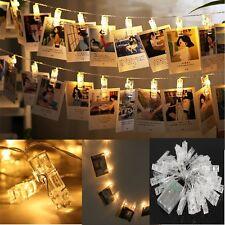 LED Photo Peg Clip LED Fairy String Light Wedding Hanging Picture Decor New