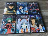 Martian Successor Nadesico DVD Anime Series Volumes 1 - 6 6 DVD Lot