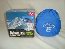 Evernew Stainless Steel Model S 7 Piece Backpacking Camping Cook Set