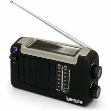 Travel radio powered by solar, wind up, dynamo with usb charge