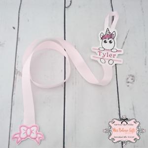 Personalised Unicorn Hair Bow Holder Clip Hanger Storage