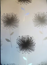 NEIVE BLACK, SILVER, GREY LARGE FLOWER FEATURE WALL WALLPAPER