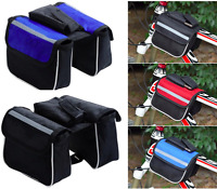 Cycling Front Double Bag Bike Bicycle Frame Pannier Mobile Phone Pouch Fast Post