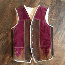 Leather Vest Western Size 36 Brown Men's Medium Vintage