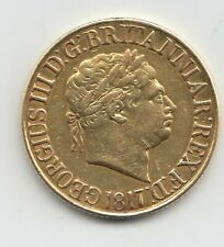 More details for 1817 sovereign king george iii full gold sovereign coin - ex mount