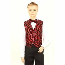 Kids Black & Red Zebra Print Vest