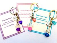 Thank you Gift of Angel Key ring for Carer, Nursing Home, Midwife, Nurse or Any