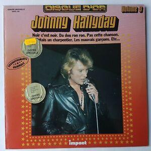 """JOHNNY HALLYDAY 3 - LP EXCELLENT ETAT ! ♦ DISQUE D'OR """"IMPACT"""" - NOIR C'EST NOIR"""