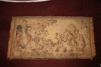 Vintage Italian Tapestry Middle Eastern Arabic Trading Men Camels Guns Horses