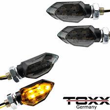 ToXx LED Miniblinker Microblinker Blinker Motorrad Schwarz 4 Stück E-Prüfzeichen
