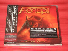 ACCEPT Blind Rage  JAPAN CD WITH BONUS TRACK + DVD