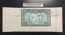 BILBAO 100 PESETAS 1937 BANCO DE VIZCAYA MATRIZ GRANDE ORIGINAL BILLETE EUZKADI