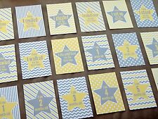 Baby Milestone Cards Set Yellow & Grey - Baby Shower Gift - Baby Milestones - UK