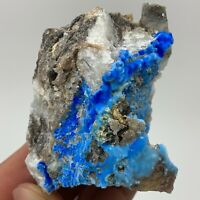 AAAAA-RARE-blue-Cyanotrichite-crystal-mineral-specimens-China T442