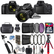 Nikon COOLPIX P900 Digital Camera + Spider Tripod + Monopad + Case - 16GB Bundle