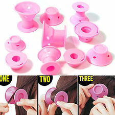 Silicone Hair Curler Hair Care Rollers No Heat Hair Styling Tool Pink Women