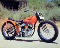 Poster Of Vintage Harley Davidson Motorcycle Bike Art Print Wall Decor (16x20)