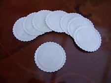50 x WHITE PAPER COASTERS PLAIN MULTI PLY SWANTEX