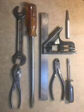 Tool Lot Craftsman Adj. Sq, Lg & Sm Screwdrivers, Wrench, Pliers, Punch, nipers