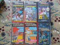 6 x 80's Transformers G1 VHS Tapes Dinobots Headmasters Return Optimus Prime