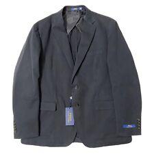 Polo Ralph Lauren Mens Blazer Navy Blue Size 42 Long Two Button #169