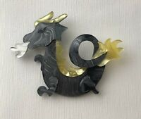 Unique  Dragon Pin Brooch In acrylic