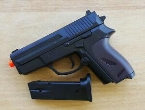 Ukarms P618 Airsoft Spring Hand Gun Pistol (2-Tone Black/Brown) 6mm 0.12g BB BBs