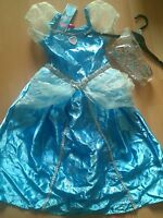BNWT DISNEY PRINCESS CINDERELLA FANCY DRESS UP COSTUME 7-8 YRS GIRLS book day