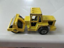 Vintage Majorette #226 Road Roller Yellow 1987 Made in France