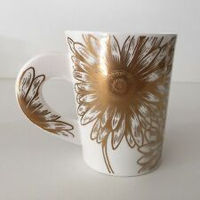 Dunoon Shimmer by Caroline Dadd Fine Bone China Gold Floral Mug, Made in England