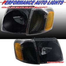 Black Headlights w/ Corner Lights for 01-03 Explorer Sport / 01-05 Sport Trac