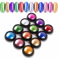 AU_ FP- 12 Colors Mirror Chrome Effect Nail Art Powder Manicure Pigment Glitter