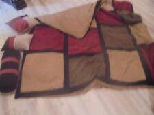 Luxurious QUEEN 4--Piece Comforter Duvet Cover  Micro Suede Patchwork