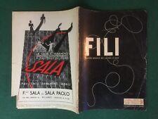 FILI n.48/1937 Ed. DOMUS Rivista Magazine DEI LAVORI D'AGO cucito ricamo moda