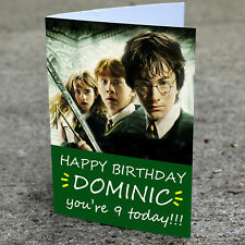 HARRY POTTER Personalised Birthday Card | Fast Shipping Any Name and Age