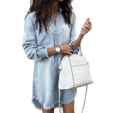 Womens Belted Cap Sleeve Mini Dress OL Ladies Casual Work Shirts Blouse Tops UK