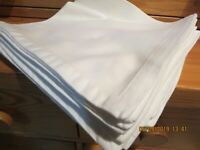 """SET OF 4 WHITE WILLIAMS SANOMA NAPKINS--EMBROIDERED """"D""""--FRENCH CORNERS--#G18A"""
