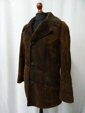 Men's Vtg Baily's Brown Sheepskin Shearling Coat Size 42 (M) Dry Cleaned