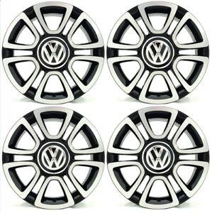 "SET OF FOUR NEW GENUINE VW UP 16"" GLOSS BLACK TRIANGLE ALLOY WHEELS X4 ALLOYS"